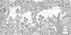 Resultado de imagem para jardim secreto para colorir