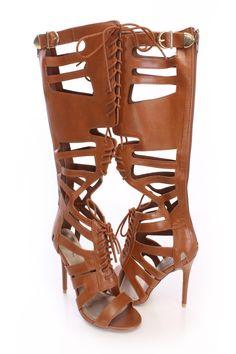 Leather Gladiator Heels | Tsaa Heel