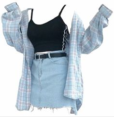 # 11 – Outfits, make up, jewelry's etc – – Grunge Outfits Teen Fashion Outfits, Mode Outfits, Cute Fashion, Look Fashion, Outfits For Teens, Korean Fashion, Fashion Black, Clothes For Teens Girls, School Skirt Outfits