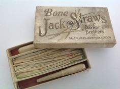 Vintage Parker Brothers Game Bone Jack Straws in original box by Hannahandhersisters on Etsy