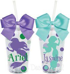 Cinderella Disney Princess Inspired16oz by LylaBugDesigns on Etsy, $15.00