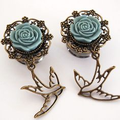 These are the most girly and cute gauges/plugs ever!