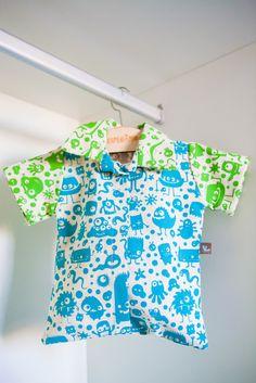 Camisa Porta-Peças Íntimas da coleção Monstrinhos