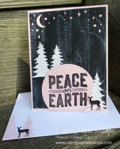 Stampin\' Up!, SU!, DIY crafts, Carols of Christmas, Woodland Textured Impressions, handmade Christmas cards, #carolpaynestamps