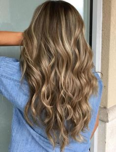 Brown Hair With Beige And Platinum Highlights