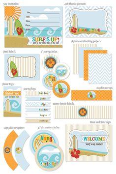 Surf's Up Party Kit - soooo cuteeee!