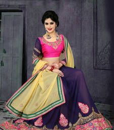 Buy Red embroidred Georgette saree with blouse georgette-saree online