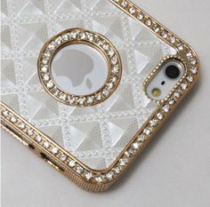 Amazon.com: White Gold Luxury Rhinestone Diamond Bling Back Case Cover for iPhone 5 5G: Cell Phones & Accessories
