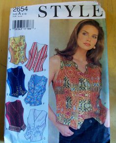 STYLE 2654 misses fitted vest/waistcoat  sewing by MayyMayy, $6.00
