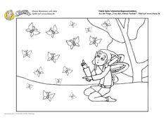 #Ausmalbild Habú beim Schmetterling wettzählen! #ausmalbilder #printable #kids #coloring