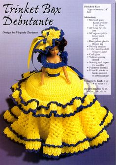 Crochet Dolls Clothes Barbie Patterns Site 11 - all crochet, not much if any fashion doll clothes Crochet Doll Dress, Crochet Barbie Clothes, Crochet Doll Pattern, Knitted Dolls, Barbie Patterns, Doll Clothes Patterns, Cute Crochet, Beautiful Crochet, Habit Barbie