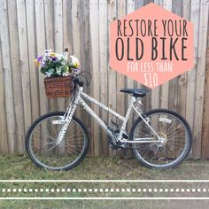 How to restore your old bike that's been sitting in the garage for a decade!! Blog Post! #Bike #restore #DIY