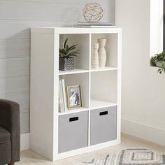 4 Cube Organizer, Online Organizer, Bookshelves, Bookcase, Cube Shelves, Storage Bins, Storage Ideas, Small Cube Storage, Storage Organization