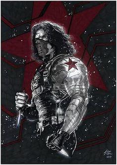 The Winter Soldier Marvel Comics Art, Marvel Heroes, Marvel Characters, Marvel Movies, Marvel Avengers, Avengers Superheroes, Captain Marvel, Bucky Barnes, Logo Super Heros