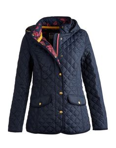 I'm still looking for a quilted riding jacket with a hood and back vents! Sort of like this MARCOTTE Womens Hooded Quilted Jacket by #Joules $170.00