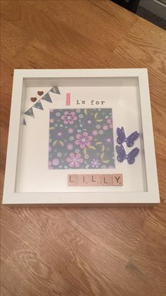 L is for Lilly - personalised handmade scrabble memory frame - £15.00 plus P&P