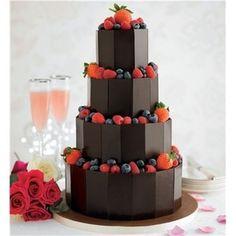 チョコレート&ベリーのウェディングケーキ