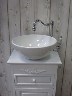 Home and decor Gästewaschtische und kleine Waschtische für ein wohnliches Badezimmer - Landhaus, Nostalgie, Vintage, Retro uvm.