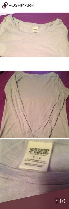Light Blue Basic Long Sleeve PINK Victoria's Secret Light Blue Long Sleeve Top. No stains, wear, or tear. Very pretty color! 60% Cotton, 40% Polyester. Any questions? Feel free to ask! PINK Victoria's Secret Tops Tees - Long Sleeve
