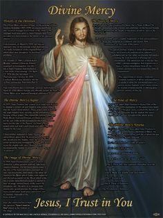 Divine Mercy Explained Poster. Learn the history and facts and more about this devotion with this poster!