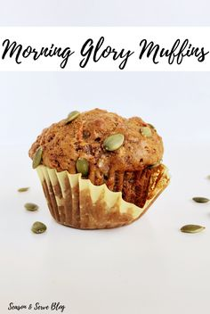 These Morning Glory Muffins are a real treat to wake up to in the morning. Loaded with carrots, apple, walnuts and pumpkin seeds, these muffins make a healthy and nutritious breakfast any day of the week! Nutritious Breakfast, Healthy Muffins, Kid Snacks, Healthy Snacks For Kids, Morning Glory Muffins, Pumpkin Seed Butter, Honey And Cinnamon, Muffin Recipes, Deli
