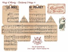 Wings of Whimsy Christmas Cottage Free Printable