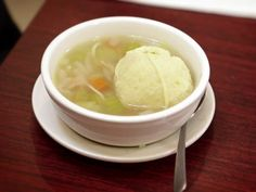 Saw this episode and want to try this!  Chicken Soup With Matzo Balls Recipe : #Foodnetwork