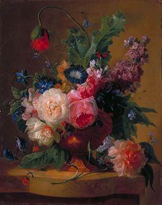 Flower Piece, 1740   Jan van Huysum   Fine Art Painting Reproduction
