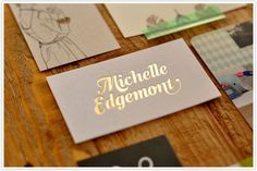 Best of Alt :: Creative Biz Cards   Camille Styles Gold Foil