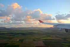 Sunrise from Air Mauritius plane