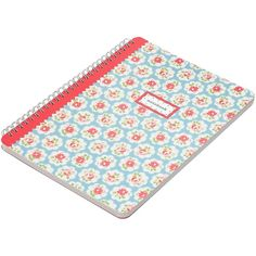 Cath Kidston Blue Spray Notebook, A5 ($11) ❤ liked on Polyvore featuring home, home decor, stationery, school, books, school supplies, accessories and fillers
