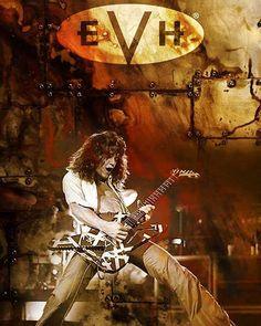 Eddie Van Halen 1978  With Shark Ibanez Destroyer Guitar