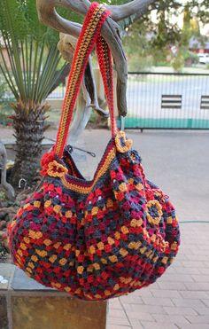 Tote bag, bolsa de ganchillo para las mujeres, grandes sobre el bolso hecho a mano, bolso de ganchillo, mantenga todo bolso, bolso de la Honda para las mujeres, bolso de OOAK.