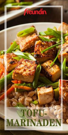 You would like to cook with tofu more often, but it always tastes so . - You would like to cook with tofu more often, but it always tastes of nothing? Then you have probabl - Healthy Chicken Recipes, Salmon Recipes, Asian Recipes, Vegetarian Recipes, Ethnic Recipes, Marinade Tofu, Cooking Tofu, Vegetarian Lifestyle, Cauliflower Recipes