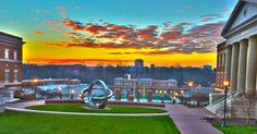 This morning's sunrise over UNC Charlotte, as seen from the Charlotte Research Institute. 2/5/2013
