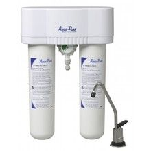 Aqua-Pure® drinking water filtration system is an economical undersink alternative to bottled water that connects to a dedicated faucet. System to be installed on primary kitchen cold water line.