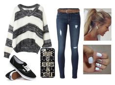 """""""Untitled #40"""" by hintzj2020 ❤ liked on Polyvore featuring Hudson, Keds and Vans"""