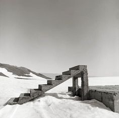 Stairs to Nowhere by Ian van Coller, via Flickr. © Ian van Coller, Old research station in Antarctica