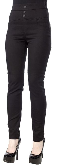 Black High Waist Pants -  The super high cinched waist will make your legs appear longer.
