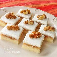 Estos cortadillos de queso y membrillo son unos vistosos canapés de varios pisos que podemos preparar en casa con ingredientes sencillos.