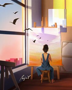 Cartoon Girl Drawing, Cartoon Art, Character Illustration, Illustration Art, Cute Images With Quotes, Colourful Wallpaper Iphone, Architecture Artists, Famous Artwork, Zen Art
