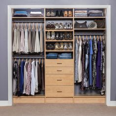 31 Wonderful Closet Design Ideas For Your Home. Unique closet design ideas will definitely help you utilize your closet space appropriately. An ideal closet design is probably the  Spare Bedroom Closets, Wardrobe Design Bedroom, Wardrobe Closet, Master Closet, Bedroom Decor, Bedroom Furniture, Closet Space, Budget Bedroom, Bedroom Ideas