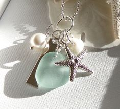 Hey, I found this really awesome Etsy listing at http://www.etsy.com/listing/176432534/sea-glass-starfish-beach-wedding-jewelry
