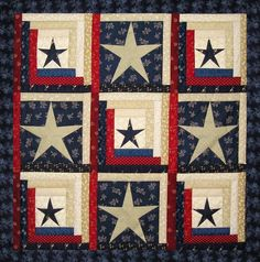 Stars & Stripes Patriotic Quilt Pattern pattern on Craftsy.com