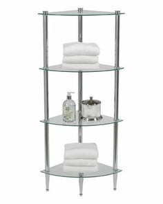 4-Shelf Corner Tower Unit
