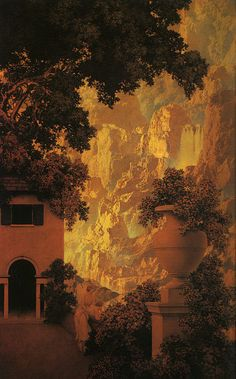 Sunrise, 1931, by Maxfield Parrish (1870–1966). Oil on panel | Private collection