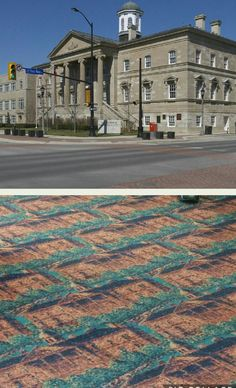 The carpet in this courthouse matches it's exterior.