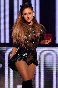 Ariana performs during the 2014 iHeartRadio Music Festival at the MGM Grand Garden Arena on Sept. 19, 2014, in Las Vegas, Nevada. Getty -Cosmopolitan.com