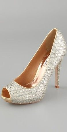 If you wear this shoe, the dress MUST BE short. These are too pretty to hide!