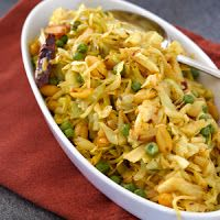 Organic Gardens Network: Stir-Fried Cabbage with Red Chile Peppers, Peanuts & Peas
